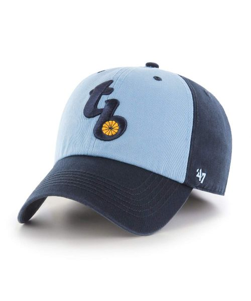 '47 Brand Tampa Bay Rays MLB Clean Up Strapback Hat Light Blue Navy Blue 2012-2018 Logo