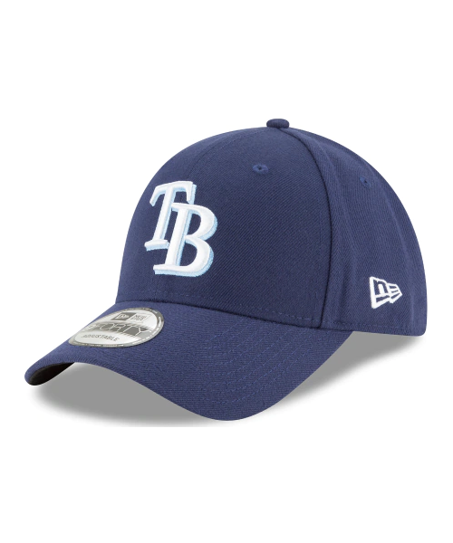 New Era Tampa Bay Rays MLB JR The League YOUTH 9FORTY Velcroback Hat Navy Blue