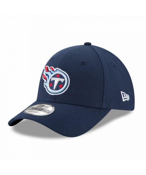 New Era Tennessee Titans NFL The League 9FORTY Velcroback Hat Navy Blue