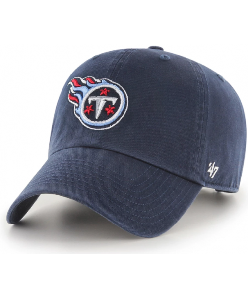 '47 Brand Tennessee Titans NFL Clean Up Adjustable Strapback Hat Navy Blue