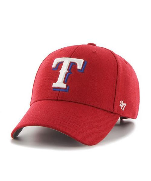 '47 Brand Texas Rangers MLB MVP Adjustable Velcroback Hat Red