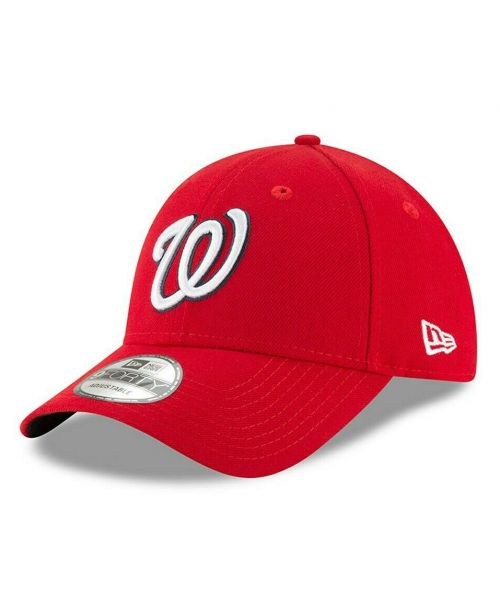 New Era Washington Nationals MLB The League 9FORTY Adjustable Adult Hat Red