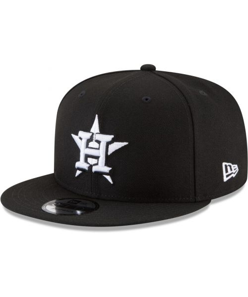 New Era Houston Astros MLB Basic Snap 9FIFTY Snapback Hat Black White Logo