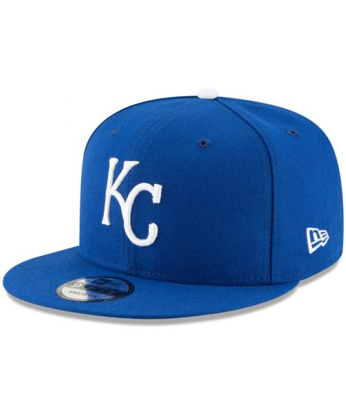 New Era Kansas City Royals MLB Basic Snap OTC 9FIFTY Snapback Hat Blue White Logo