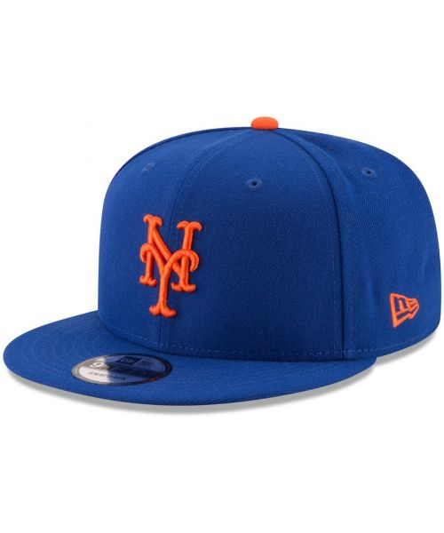 New Era New York Mets MLB Basic Snap OTC 9FIFTY Snapback Hat Blue