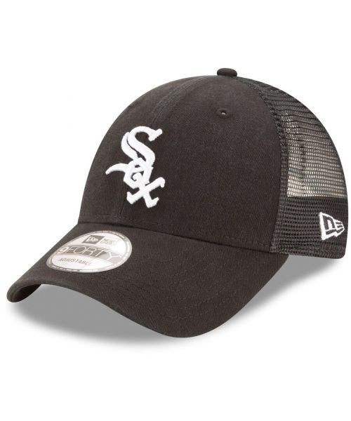 New Era Chicago White Sox MLB Trucker Mesh 9FORTY Snapback Hat Black
