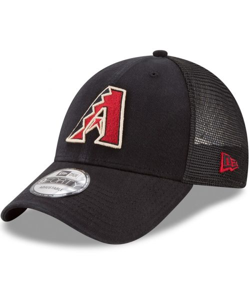 New Era Arizona Diamondbacks MLB Trucker Mesh 9FORTY Snapback Hat Black
