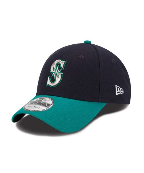 New Era Seattle Mariners MLB The League 9FORTY Velcroback Hat Navy Teal
