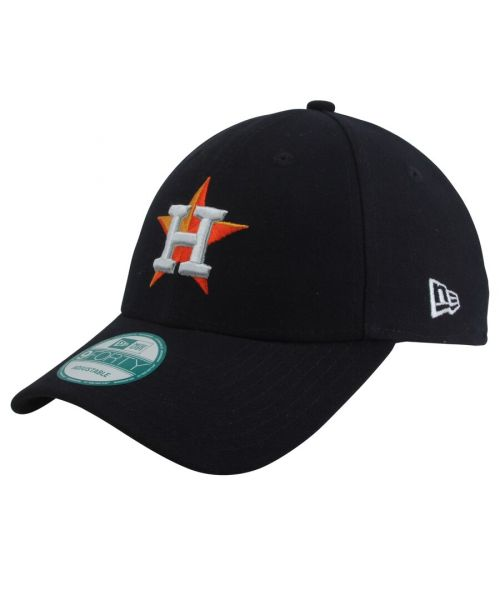 New Era Houston Astros MLB JR The League YOUTH 9FORTY Velcroback Hat Navy Blue