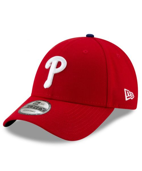 New Era Philadelphia Phillies MLB The League 9FORTY Adjustable Adult Hat Red