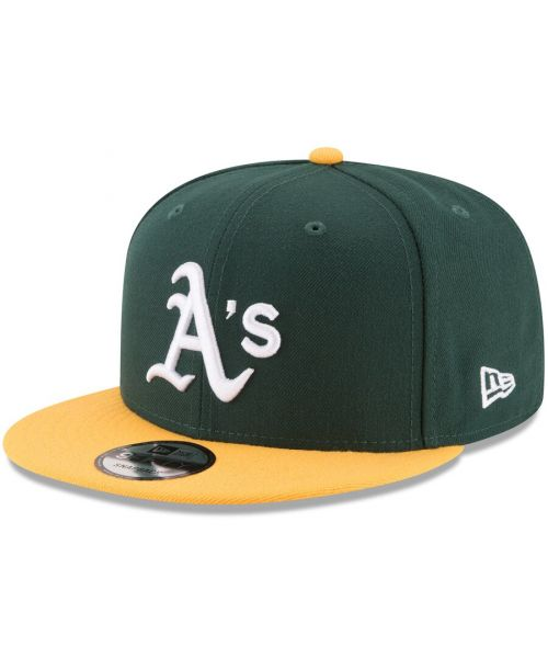 New Era Oakland Athletics MLB Basic Snap OTC 9FIFTY Snapback Hat Green Yellow