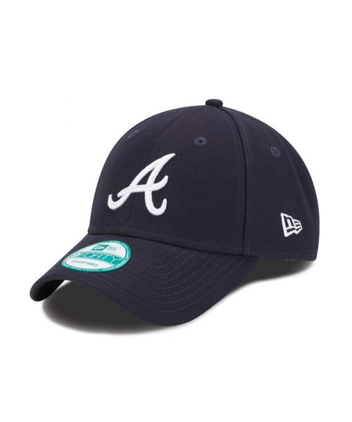 New Era Atlanta Braves MLB The League 9FORTY Velcroback Hat Navy Blue