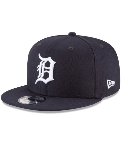 New Era Detroit Tigers MLB Basic Snap OTC 9FIFTY Snapback Hat Navy Blue White Logo