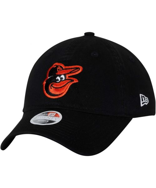 New Era Baltimore Orioles MLB Authentic Women's Essential LS 9TWENTY Strapback Hat Black