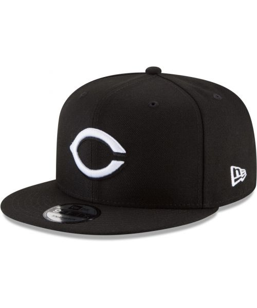 New Era Cincinnati Reds MLB Basic Snap 9FIFTY Snapback Hat Black White Logo