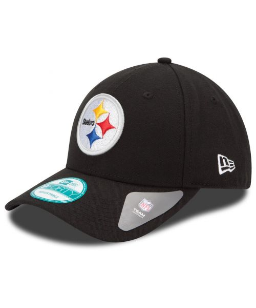 New Era Pittsburgh Steelers NFL The League YOUTH 9FORTY Velcroback Hat Black