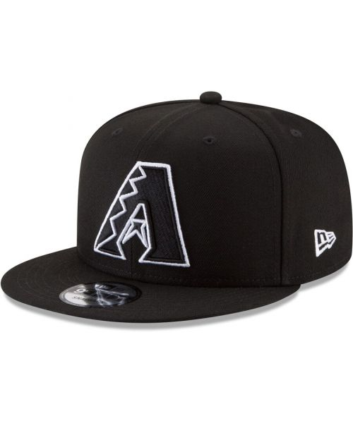 New Era Arizona Diamondbacks MLB Basic Snap  9FIFTY Snapback Hat Black White Logo