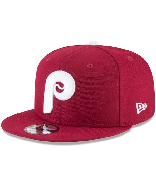 New Era Philadelphia Phillies MLB Basic Snap 9FIFTY Snapback Adult Hat Burgundy
