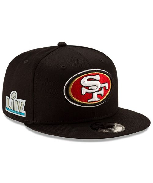 New Era San Francisco 49ers NFL Super Bowl LIV Bound Sidepatch 9FIFTY Snapback Hat Black