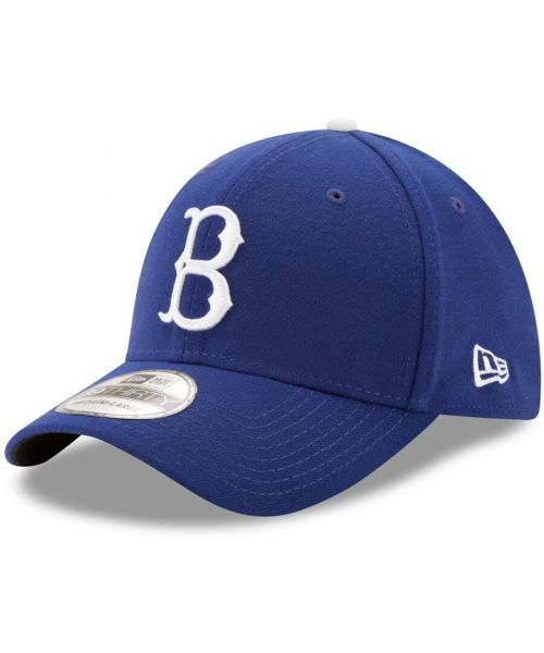 New Era Brooklyn Dodgers MLB Authentic Team Classic GAME 39THIRTY Stretch Fit Hat Blue