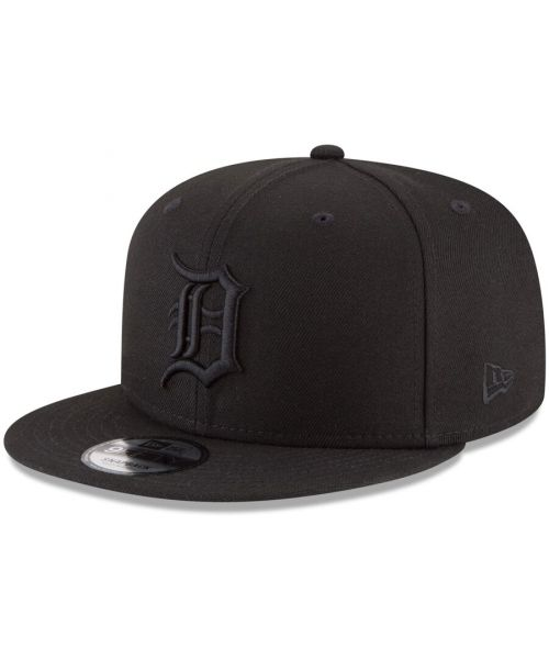 New Era Detroit Tigers MLB Basic Snap 9FIFTY Snapback Hat Black On Black