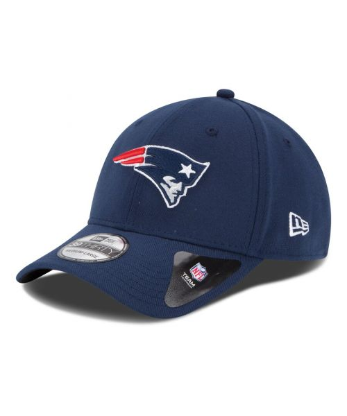 New Era New England Patriots NFL Team Classic 39THIRTY Stretch Fit Hat Navy Blue