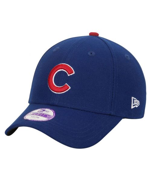 New Era Chicago Cubs MLB The League Youth 9FORTY Velcroback Hat Blue