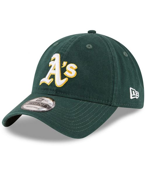 New Era Oakland Athletics MLB Core Classic 9TWENTY Adjustable Strapback Hat Green