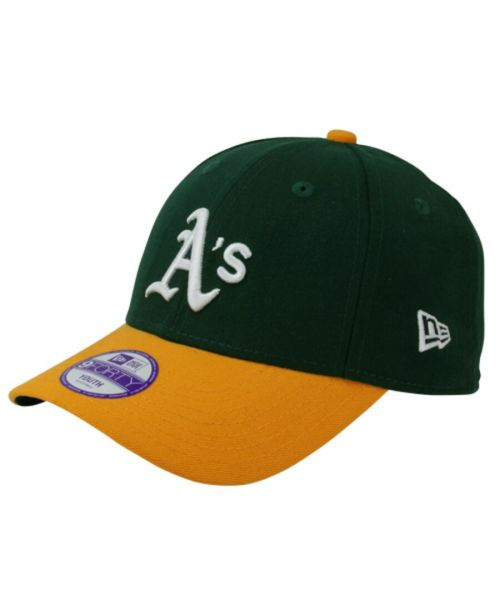 New Era Oakland Athletics MLB JR The League YOUTH 9FORTY Velcroback Hat Green