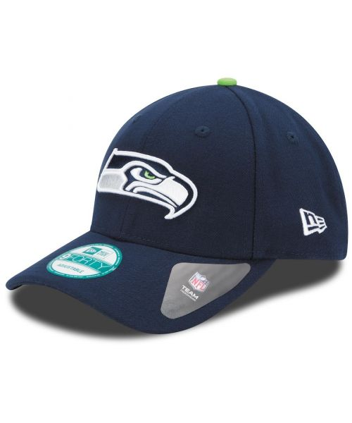 New Era Seattle Seahawks NFL The League 9FORTY Velcroback Hat Navy Blue