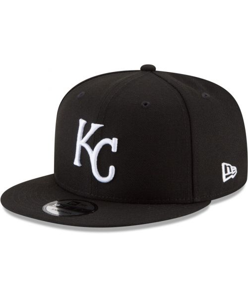 New Era Kansas City Royals MLB Basic Snap 9FIFTY Snapback Hat Black White Logo
