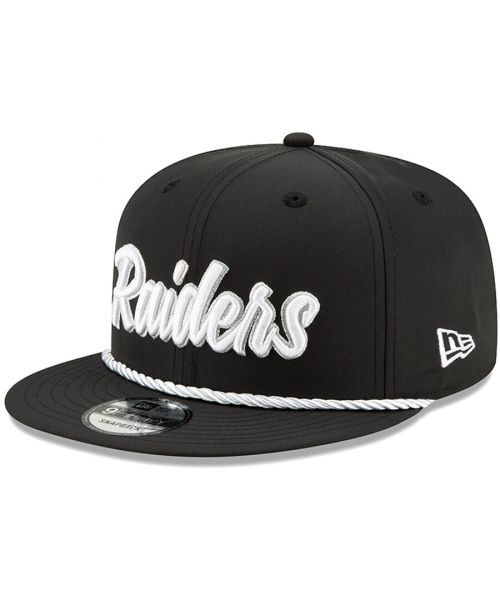 New Era Oakland Raiders NFL Official 1960s Home Sideline 9FIFTY  Snapback Hat Black