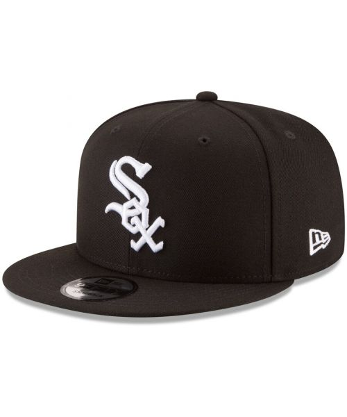 New Era Chicago White Sox MLB Basic Snap OTC 9FIFTY Snapback Hat Black White Logo