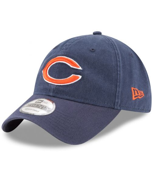 New Era Chicago Bears NFL Core Classic TW 9TWENTY Strapback Hat Navy Blue