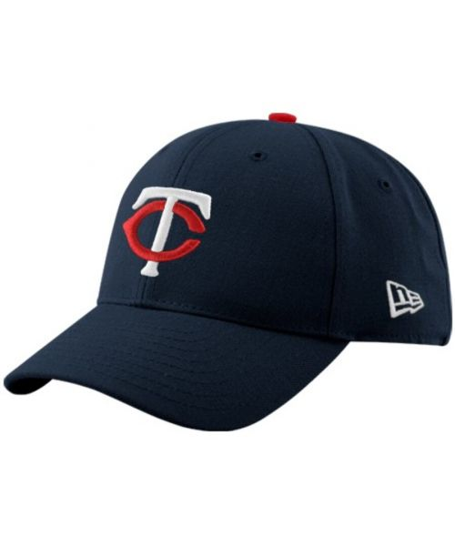 New Era Minnesota Twins MLB The League Youth 9FORTY Velcroback Hat Navy Blue