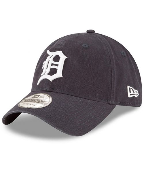 New Era Detroit Tigers MLB Core Classic  9TWENTY Adjustable Strapback Hat Navy Blue