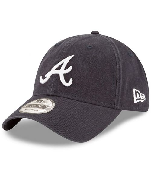 New Era Atlanta Braves MLB Core Classic Adjustable 9TWENTY Strapback Hat Navy Blue