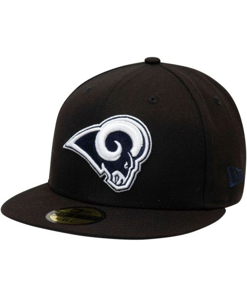 New Era Los Angeles Rams NFL League Basic 59FIFTY Fitted Hat Black Blue Logo