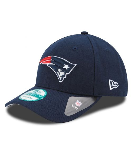 New Era New England Patriots NFL The League YOUTH 9FORTY Velcroback Hat Navy Blue