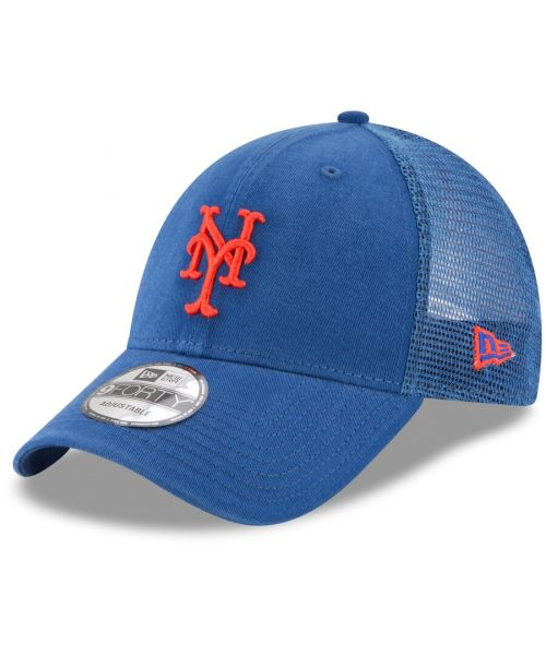 New Era New York Mets MLB Trucker Mesh 9FORTY Snapback Hat Blue