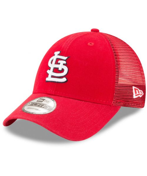 New Era St. Louis Cardinals MLB Trucker Mesh 9FORTY Snapback Hat Red
