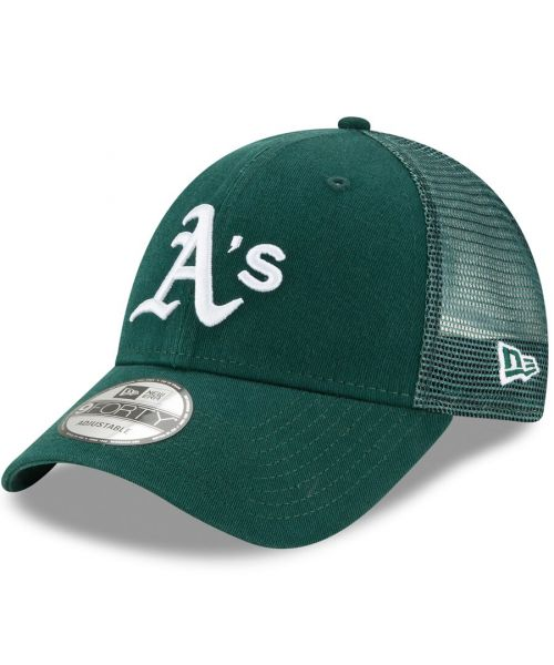New Era Oakland Athletics MLB Trucker Mesh 9FORTY Snapback Hat Green