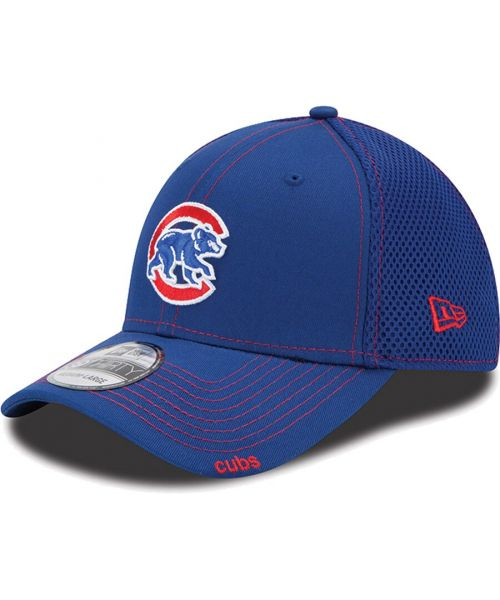New Era Chicago Cubs Neo MLB 39THIRTY Stretch Fit Hat Blue