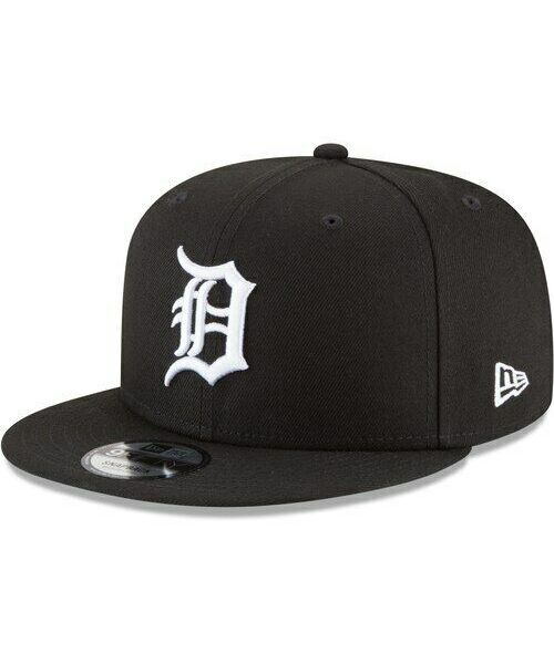 New Era Detroit Tigers MLB Basic Snap 9FIFTY Snapback Hat Black White Logo