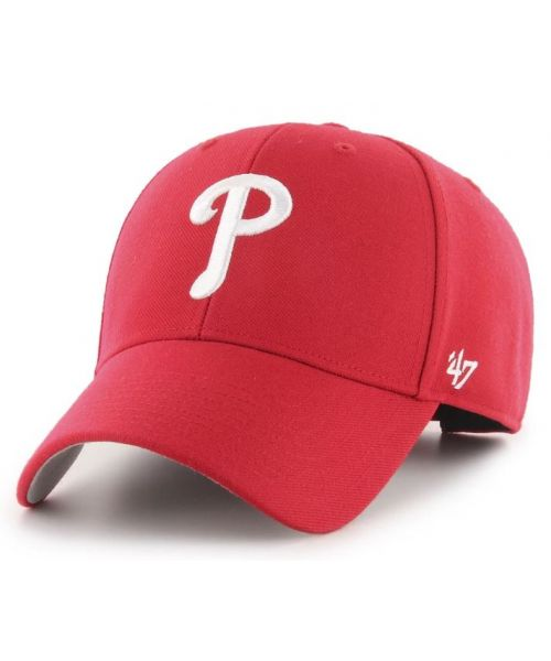 '47 Brand Philadelphia Phillies MLB MVP Adjustable Velcroback Hat Red