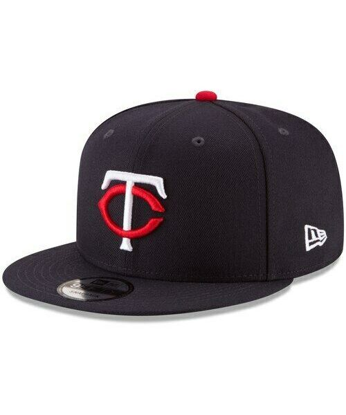 New Era Minnesota Twins MLB Basic Snap OSFA 9FIFTY Snapback Hat Navy Blue