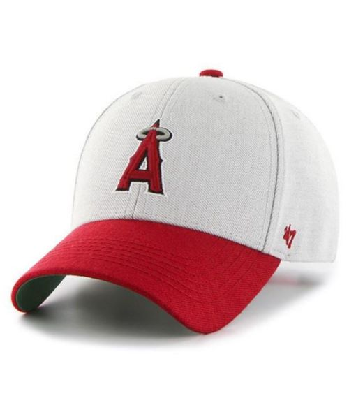 '47 Brand Los Angeles Angels MLB Thurman MVP YOUTH Snapback Hat Heather Grey Red