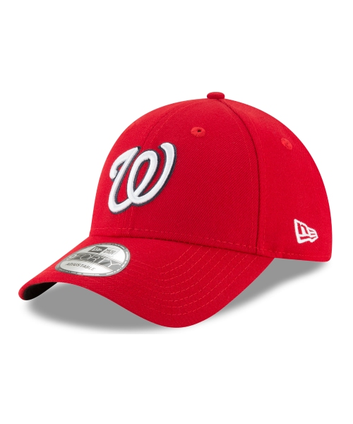 New Era Washington Nationals MLB JR The League YOUTH 9FORTY Velcroback Hat Red