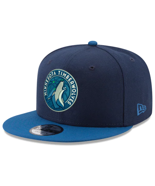 New Era Minnesota Timberwolves NBA 2Tone OSFA 9FIFTY Snapback Hat Navy Blue Blue