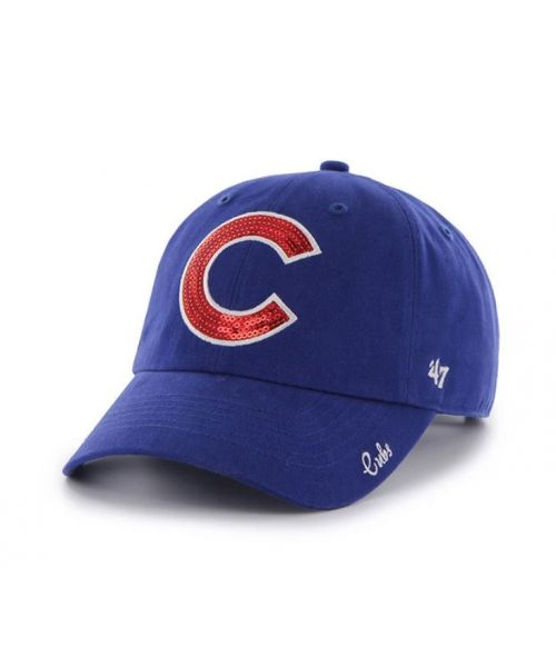 '47 Brand Chicago Cubs MLB Sparkle Clean Up Adjustable Womens Hat Blue